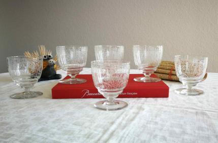 Verre lulli eau cristal baccarat
