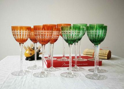 Verres roemers baccarat anciens cristal