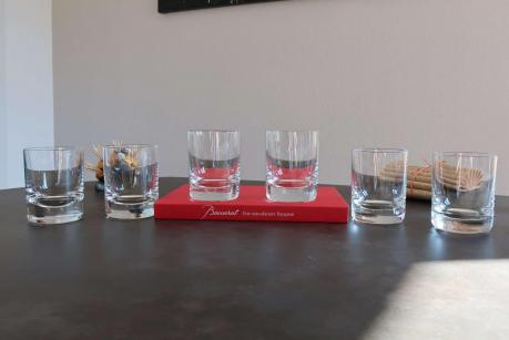 Verres whisky cristal baccarat